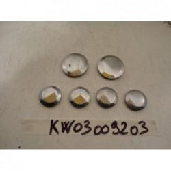 Tappi plastica bulloni Plastic caps bolts Kawasaki ZZ R 1100 90 93