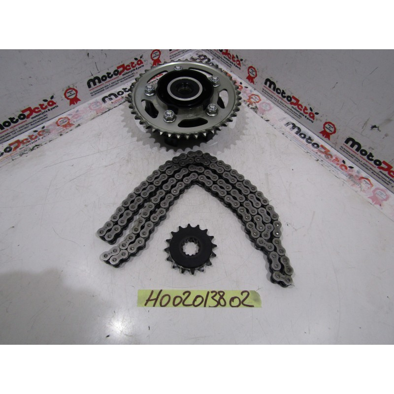 Kit catena corona pignone Chain sproket chainwheel Honda Hornet 600 07 10
