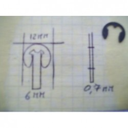 Anello elastico di tenuta esterna acciaio seeger Elastic sealing ring outer steel seeger 6-12mm